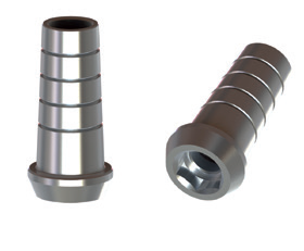 BTI External Hex 4,1 Straight Titanium Abutment Engaging