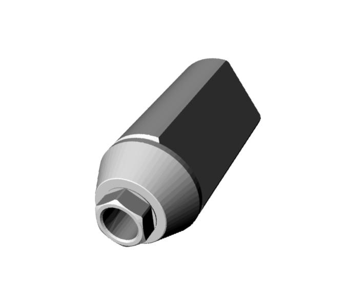 Biomet 3i Osseotite 5,0® Scan Jig Implant Level Engaging.